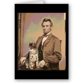 President Lincoln and his cat