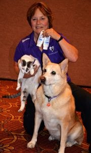Arden Moore with Ziki and Chipper